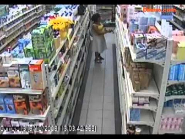 Videos de robos en Supermercados.