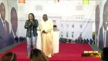 Les jeunes filles de kouthia chantent l'hymne national du Sénégal