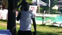 BLOB Pool party, tecno-house y barbacoa en la mejor fiesta ibicenca en el Hotel 'Mirlo Blanco' de Candeleda