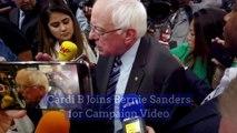 Cardi B Joins Bernie Sanders for Campaign Video