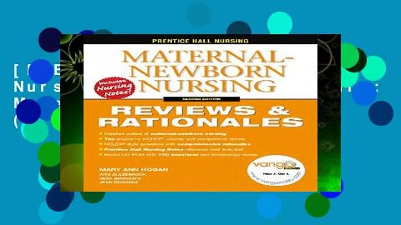 [FREE] Prentice Hall Nursing Reviews   Rationals: Maternal-Newborn Nursing (Prentice Hall Nursing