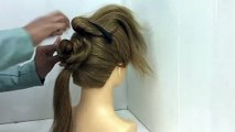 2 Easy Bun Hairstyles with Trick for Wedding & party - prom Updo Hairstyle