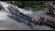 Un train de marchandises déraille en République Tchèque car... il roulait trois fois au-dessus de la vitesse maximale autorisée - VIDEO