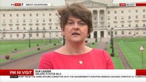Arlene Foster says the backstop 'drives a coach and horses' through the good friday agreement
