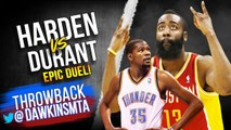 Kevin Durant vs James Harden Full Duel in 2013 WCR1 Game 5 - KD With 36 Pts, Harden With 31-