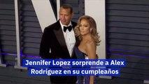 Jennifer Lopez sorprende a Alex Rodríguez en su cumpleaños