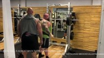Eddie Hall is almost back to his Super Saiyan form!
