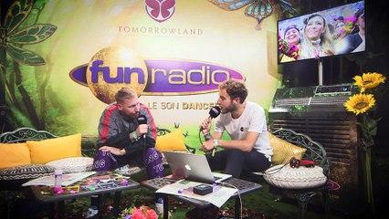 HUGEL en interview sur Fun Radio à Tomorrowland 2019