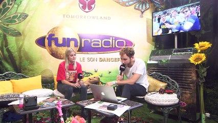 LOVRA en interview sur Fun Radio à Tomorrowland 2019