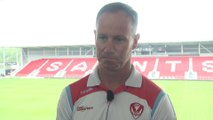 St Helens Justin Holbrook on leaving the club