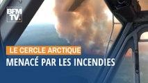 Depuis le début du mois de juin, le cercle polaire arctique menacé par les incendies