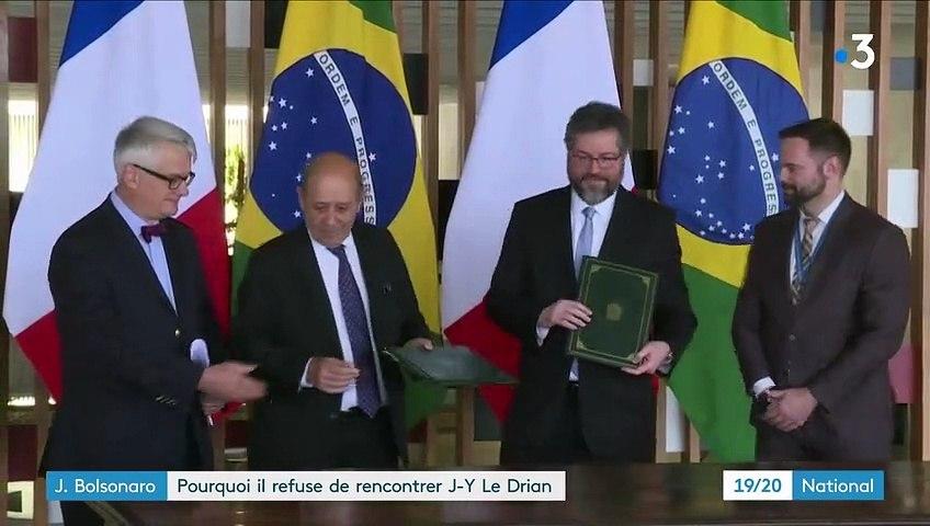 Brésil : Pourquoi Jair Bolsonaro a refusé de rencontrer Jean-Yves Le Drian ?