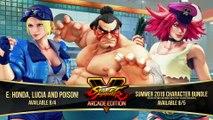 Street Fighter V - Trailer E. Honda, Lucia et Poison