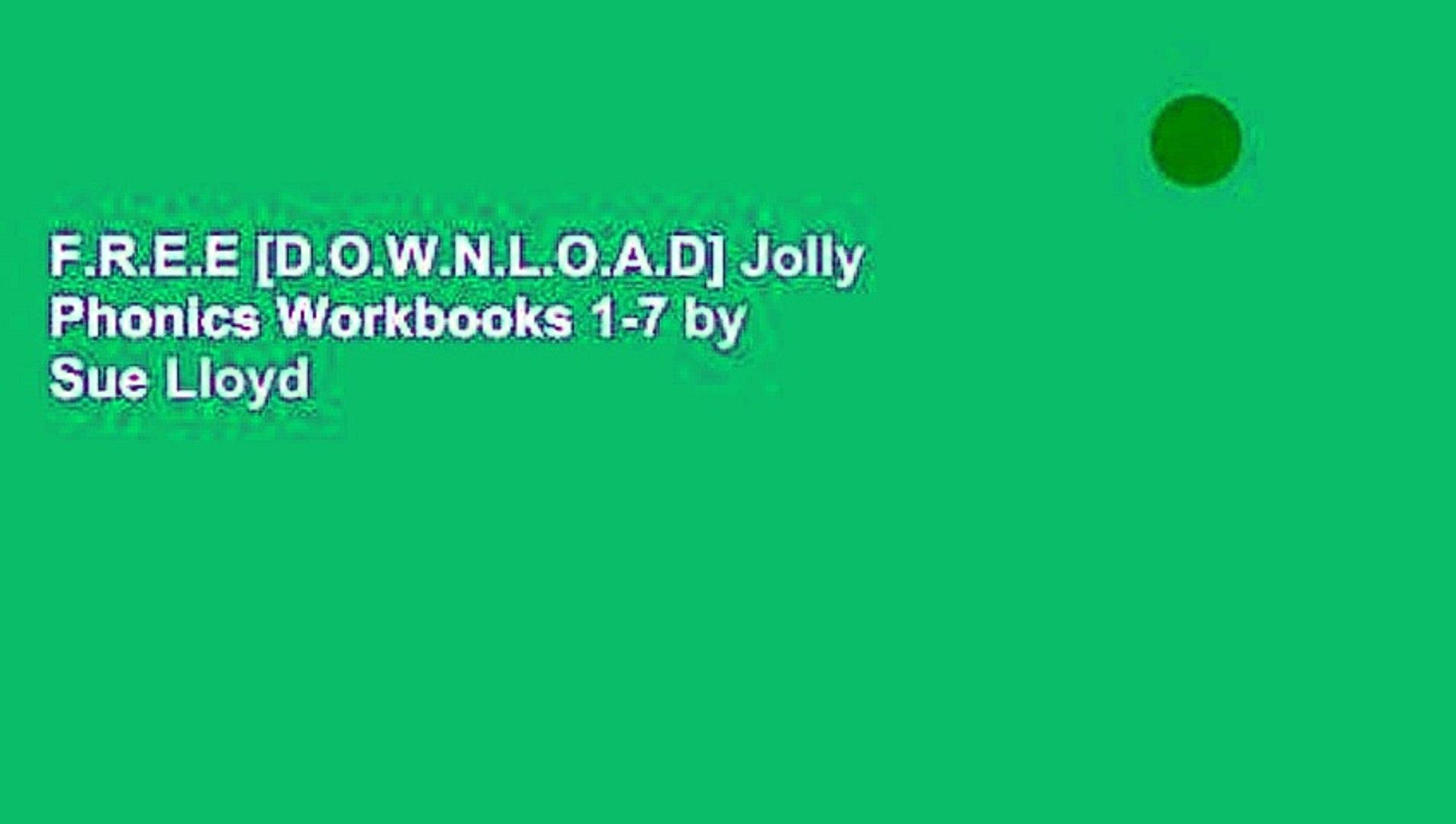 F R E E [D O W N L O A D] Jolly Phonics Workbooks 1-7 by Sue Lloyd