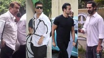Bollywood Celebs Attend The Last Rites Ceremony of Areef Patel | Karan Johar, Suniel Shetty