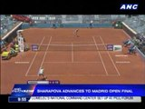 Sharapova advances to Madrid Open finals