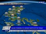Rains possible in some parts of PH today