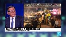 Matraques et blindés : l'armée chinoise montre les muscles à Hong Kong avec une vidéo