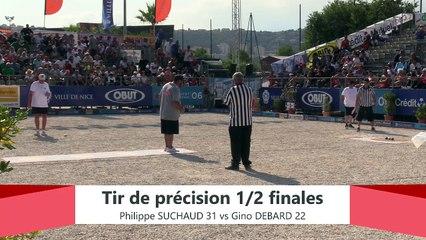 Europétanque des Alpes-Maritimes 2019 : Demi-finale Tir de précision SUCHAUD vs DEBARD