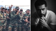 Vicky Kaushal Trolled For Posting Picture With Indian Army Jawans