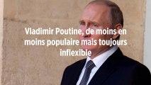 Vladimir Poutine, de moins en moins populaire mais toujours inflexible