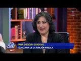 Irma Eréndira Sandoval explica cómo entiende la corrupción | De Pisa y Corre
