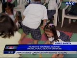 Parents warned against hand, foot, mouth disease