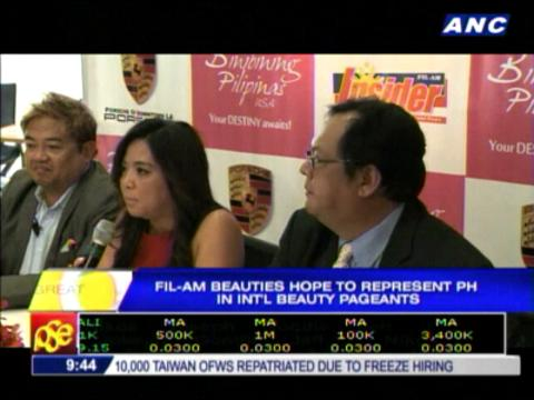 Fil-Am beauties hope to represent PH in int'l beauty pageants
