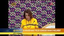 Nancy Pelosi au parlement du Ghana [Morning Call]
