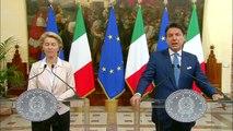 Roma - Conte incontra Ursula von der Leyen (02.08.19)