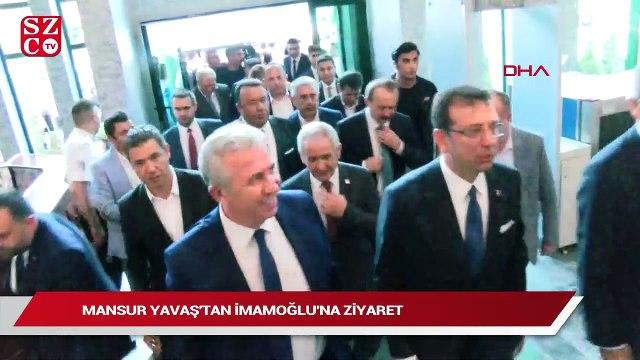 Ankara Büyükşehir Belediye Başkanı Mansur Yavaş'tan İBB Başkanı Ekrem İmamoğlu'na ziyaret