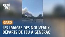 Les images des nouveaux départs de feu à Générac, dans le Gard