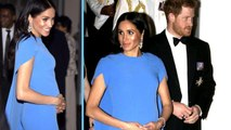 Duchess Meghan Looks Like A Blue Angel In Magnificent Gown In Tribute To Fiji