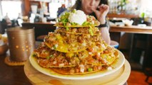 This Foot-Tall Taco Tower Can Feed More Than 10 People