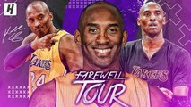 Kobe Bryant FAREWELL TOUR - BEST Highlights - Moments from his LAST NBA Season- -MambaOut