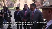 """Jesse Jackson marque l'Holocauste des Roms """"oubliés"""" à Auschwitz"""