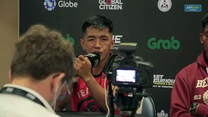 Geje Eustaquio on his thought with the team performance