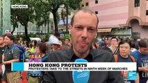 Hong Kong protests France 24 Daniel Quinlan correspondent