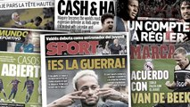 La guerre est déclarée entre le PSG et Neymar, le transfert record de Maguire à Manchester fait les gros titres en Angleterre