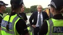 Boris Johnson meets emergency services at Whaley Bridge