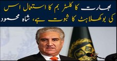 FM Pakistan Shah Mehmood Qureshi condemns Indian violation of Geneva convention