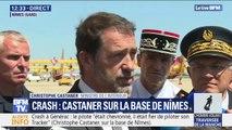 """Christophe Castaner sur le crash à Générac: le pilote """"était un pilote expérimenté (...) il était fier de piloter son Tracker"""""""