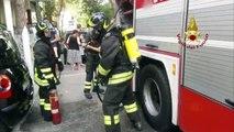 Riccione - A fuoco lavanderia di un albergo (03.08.19)