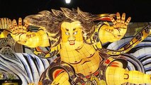 Warriors, floats and dancers at popular Japan festival