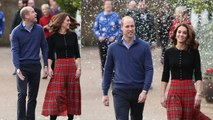 Kate Middleton - Prince William Have Fun At Christmas Party With Snow Machine - Santa