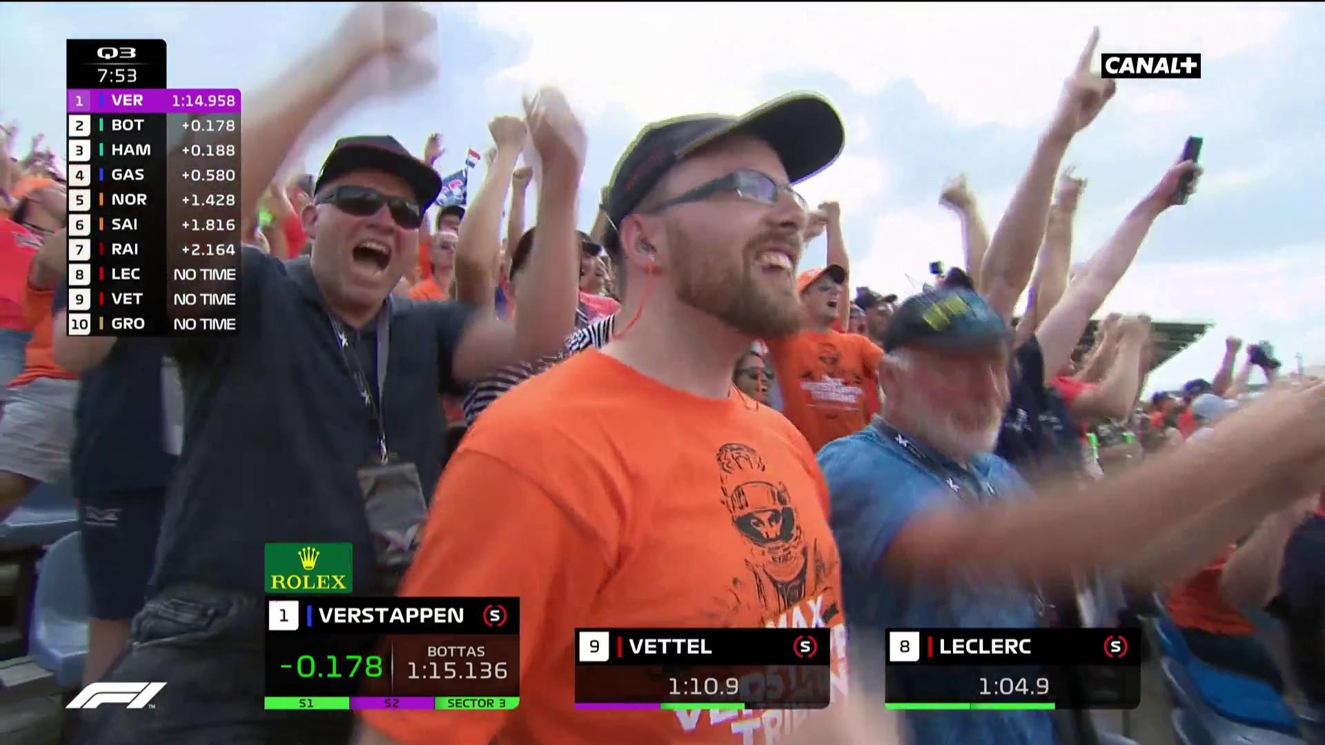 Verstappen devant Bottas et Hamilton en Q3