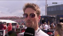 Réaction de Grosjean après les qualifications