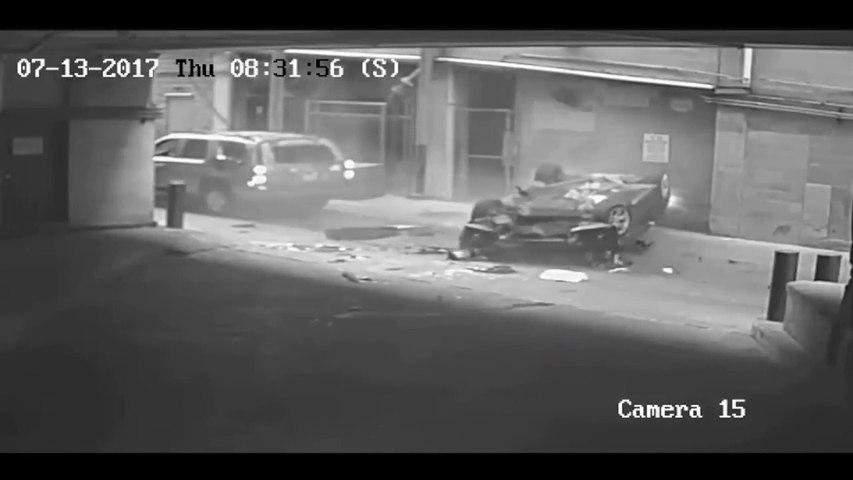 Une voiture sans conducteur chute du 7eme étage d'un parking !! Catastrophe évitée de peu
