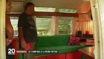 Camping : un petit goût d'Amérique à bord de caravanes rétro