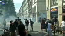 Riot police fired tear gas at protesters as violence erupts in Nantes